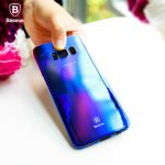 Baseus Glaze Series Color Gradient Hard PC Transparent Full Case Cover for Samsung Galaxy S8 Plus