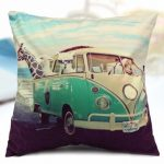 Animals Giraffe Car Cotton Velvet Throw Pillow Case Home Sofa Back Cushion Cover