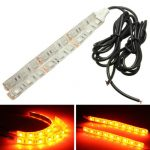 5050 SMD LED Turn Signal Indicator Strip Light Motorcycle Amber Lamp