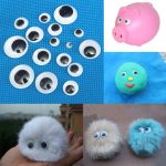 520pcs 5 to20mm 3D Wiggly Eyes Dolls DIY Handcraft Sticky Card Making Wobbly Scrapbooking Adhesive Plastic Toy