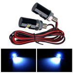 2 x White LED Motorcycle Car License Plate Bolt Lights
