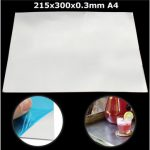 215mm x 300mm x 0.3mm Aluminium Alloy Crafts Tool Metal Shim Plate A4 For Die Cutting
