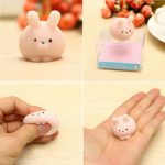 Pink Bunny Ball Squishy Squeeze Cute Healing Toy Kawaii Collection Stress Reliever Gift Decor