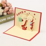 3D Pop Up LOVE Greeting Card Table Birthday Christmas Postcard Gift Craft DIY