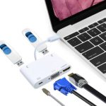 Type C USB 3.1 Male to Female HDMI VGA/3.0/2.0 Cable External Adapter for Macbook Type C Devices