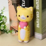 Vlampo Squishy Jumbo Kitten Cat Love Heart 14cm Slow Rising Original Packaging Collection Gift Decor