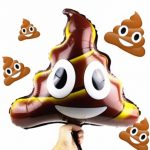 Foil Emoji Smiley Poo Poop 45x50cm Balloon Birthday Party Decoration