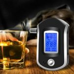 AT6000 LCD Smart Portable Digital Alcohol Breath Analyzer Tester Breathalyzer Detector