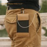 CaseMe Universal PU Leather Double-deck Wallet Pouch Waist Bag For Phone Under 6.33 Inch