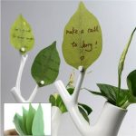Cute Green Leaf Sticky Note Memo Sticker Bookmark Desk Office Business