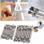 10pcs HSS Double Ended Twist Drill Bits End Set Dia. 4.2mm or 5.2mm Stell Tool