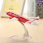WH A320 Air Asia Red Airplane Aircraft Model 16cm Airline Aeroplan Diecast Model Collection Decor