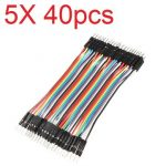 5X40pcs 30cm Male to Male Color Breadboard Cable Jump Wire Jumper For RC Models