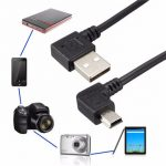 USB2.0 Type A Male Angled 90 Degree to Mini USB B Male 5 pin Data Cable 480Mbps