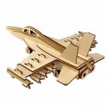 3D Jigsaw Aircraft Woodcraft Assembly Handcraft Home Decor DIY Model Puzzle IQ Challenger