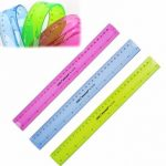 """12"""" 30cm Super Flexible Ruler Rule Measuring Tool Stationery for Office School"""