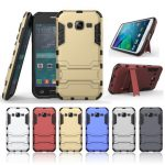 2 in 1 Armor Back Case Shockproof Cover Phone Holder Protective Shell for Samsung Galaxy J2 2015