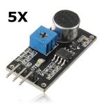 5Pcs Sound Detection Sensor Module LM393 Chip Electret Microphone For Arduino