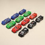 12xHZ Pull Back Racing Car Toys with Light Color Random