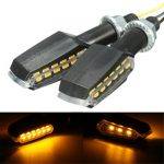 Pair 12V Dual Side Universal Motorcycle Bike LED Turn Signal Indicator Light Blinker