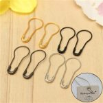 100pcs Small Coilless Tag Craft Safety Pins Calabash Gourd Pear Shape