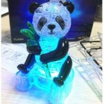 3D 58PCS Lighting Panda Crystal Blocks Puzzle to Hold Blocks
