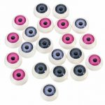 20Pcs(10pairs) Half Round Doll Bear Craft Plastic Eye Mixed Color Eyes 12mm