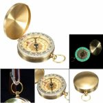 Pocket Watch Compass Classic Keychain Camping Hiking Navigation Outdoor Night Lights
