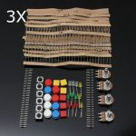 3Pcs Electronic Parts Component Resistors Switch Button Kit For Arduino