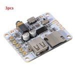 3pcs Bluetooth Audio Receiver Digital Amplifier Board With USB Port TF Card Slot Decoding Play