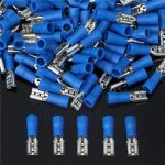 Excellway EC34 15A Insulating Female Spade Terminal Electrical Crimp Wire Connectors