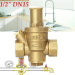 1/2 Inch DN15 Brass Water Pressure Reducing Valve without Gauge Flow Adjustable