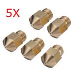 5Pcs 0.3mm 3D Printer Extruder Brass Nozzle For Makerbot MK8