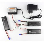 3 x 7.4V 2700mAh 10C Battery Charger Set for Hubsan H501S H501C X4 RC Quadcopter