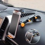 2-in-1 360 Scalable Car Dashboard Sucker Mount Holder Stand For Smartphone Tablet PC Navigator