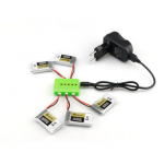 5X 3.7V 1S 600mah 50C Battery With Charger For Eachine QX90 QX95 QX80 QX70 FB90 QX100 EX100 EX105