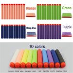 100PCS Refill Mix Colors Bullets Dart For Nerf N-strike Elite Rampage Retaliator Series