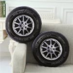 40cm PP Cotton 3D Car Tire Shape Cushion Car Wheel Waist Throw Pillows Home Office Sofa Decor