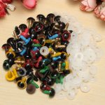 80pcs 10mm Baby Kids Handcraft Art Mix Color Plastic Safety Eyes DIY Teddy Bear Doll Plush Toys Puppet Crafts