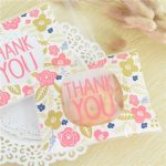 100Pcs THANK YOU Style Christmas Wedding Gift Soap Packaging Bags Candy Cookie Baking Package Bags