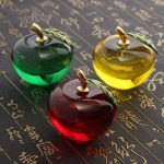Crystal Apple Shape Paperweight Unique Home Decorations Lady Wedding Gifts