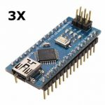 3Pcs Geekcreit ATmega328P Arduino Compatible Nano V3 Improved Version No Cable