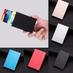 Aluminum Pop Up Click Slide ID Credit Business Card RFID Protector Holder Wallet Case