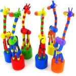 Giraffe Toys Wood Standing Baby Kid Colorful Intellectual Gifts Developmental