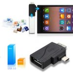 2 in 1 Micro USB 3.0 and 2.0 Male To OTG Adapter For Smartphone Tablet PC Card Reader
