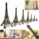 Bronze Tone Paris Eiffel Tower Figurine Statue Vintage Model Decor Alloy 4 Sizes
