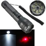 2-in-1 7LED 1W Portable Laser Pointer LED Flashlight AA