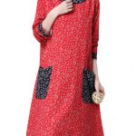 O-Newe M-5XL Casual Lady Flower Print Patchwork Dress
