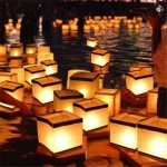 Water Floating Candle Holder Waterproof Square Candleholder Lantern Wishing Light Candlestick