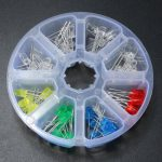 80Pcs 5mm Diodes Yellow Red Blue GreenLED Light DIY Assortment Kit